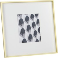 Cb2 Gallery Brass 8X10 Picture Frame