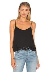Eight Sixty Tiered Crop Top Black