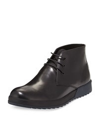 Kenneth Cole Have No Fear Leather Lace Up Boot Black