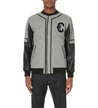 Crooks And Castles Champs Wool Blend Varsity Jacket Heather Grey