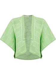 Gig Knit Jacquard Coat Green