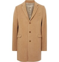 Folk Wool Blend Overcoat Camel