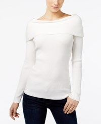 Inc International Concepts Ribbed Off The Shoulder Top Only At Macy's Washed White