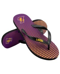 Forever Collectibles Los Angeles Lakers High End Flip Flops Purple