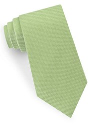 Lord And Taylor Textured Silk Tie Green