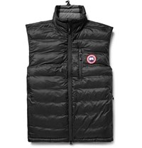 Canada Goose Gooe Lodge Packaway Quilted Hell Down Gilet Black