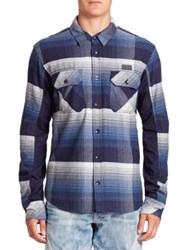 Prps Plaid Cotton Shirt Blue