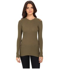 Diesel M Jets Pullover Olive Green Women's Clothing Multi