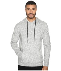Michael Stars Cross Neck Pullover Hoodie Heather Grey Men's Sweatshirt Gray