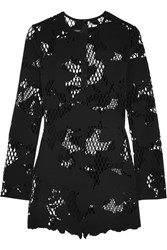 Anthony Vaccarello Laser Cut Scuba Mini Dress Black