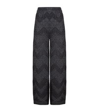 M Missoni Zig Zag Lurex Palazzo Pants Female Black