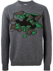Christopher Kane Trompe L' Il Intarsia Sweater Grey