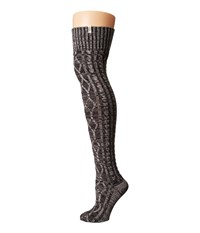 Ugg Classic Cable Knit Socks Charcoal Heather Women's Knee High Socks Shoes Gray