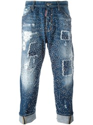 Dsquared2 'Big Brother' Studded Jeans Blue