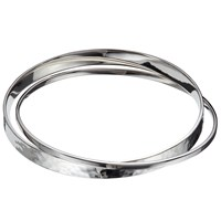 Andea Sterling Silver Polished And Hammered Double Bangle Silver