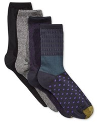 Gold Toe Women's 4 Pk. Vatican Texture Socks Black Berry