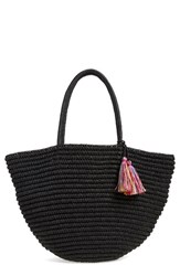 Phase 3 Tassel Crochet Tote Black