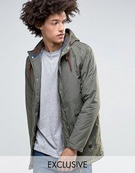 Minimum Shelton Hooded Parka In Khaki Khaki Green