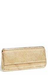 Whiting And Davis 'Pyramid' Mesh Clutch Gold
