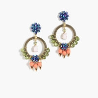 J.Crew Neon Pop Statement Earrings Neon Persimmon
