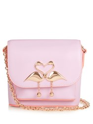 Sophia Webster Mini Claudie Leather Cross Body Bag Light Pink