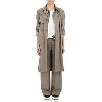 Tomas Maier Women's Gabardine Double Breasted Trench Coat Grey Light Grey Grey Light Grey