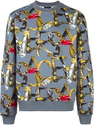Versace Belt Print Sweatshirt Grey