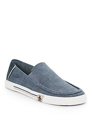 Original Penguin Canvas And Suede Loafers Blue