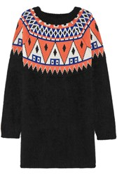 Finds Aimo Richly Angora And Wool Blend Sweater Dress Black