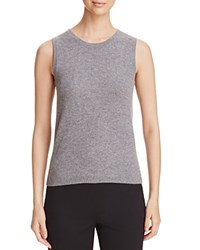 Bloomingdale's C By Sleeveless Cashmere Sweater Slate
