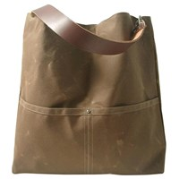 Independent Reign Waxed Canvas Bucket Bag Brown