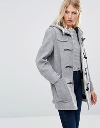 Gloverall Mid Original Duffle Coat In Silver Silver