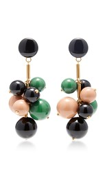 Marni Beaded Drop Earrings Green
