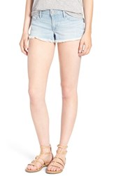 Women's True Religion Brand Jeans 'Joey' Cutoff Denim Shorts Pale Blue