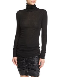 Etoile Isabel Marant Joey Long Jersey Turtleneck Top Black