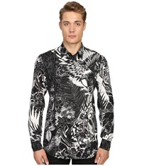 Just Cavalli Jungle Tattoo Print Shirt Black Variant Men's Clothing Multi