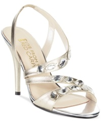 E Live At The Red Carpet Goldie Evening Sandals Women's Shoes Platino Metallic