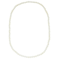 John Lewis Long 8Mm Pearl Necklace White