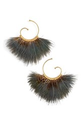 Gas Bijoux Women's 'Buzios' Feather Hoop Earrings