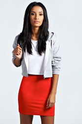 Boohoo Basic Bodycon Mini Skirt Red