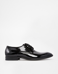 Selected Homme Patent Derby Shoes Black