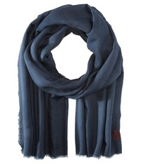 The Kooples Cotton Crest Scarf Grey Scarves Gray