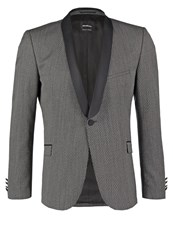 Strellson Premium Sigo Suit Jacket Grey Dark Gray