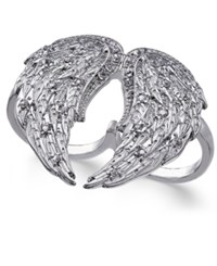 Thalia Sodi Silver Tone Two Finger Angel's Wing Ring Only At Macy's