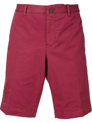Pt01 Pleated Short Chino Trousers Red