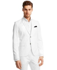 Kenneth Cole Reaction Slim Fit Herringbone Blazer White Combo