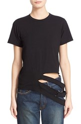 Women's Comme Des Garcons Slash Detail Crewneck Tee
