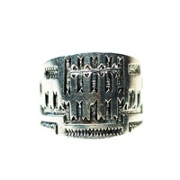 House Of Alaia All Around Me Peaceful Saddle Ring Oxidized Sterling Silver