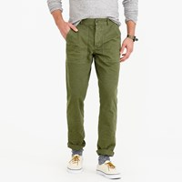J.Crew Wallace And Barnes Garment Dyed Herringbone Military Pant