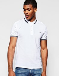 Dkny Polo Shirt Fabric Collar White